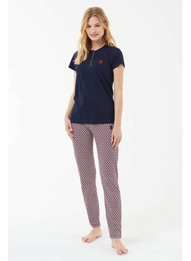 U.S. Polo Assn. Kadın Pijama Takımı Lacivert